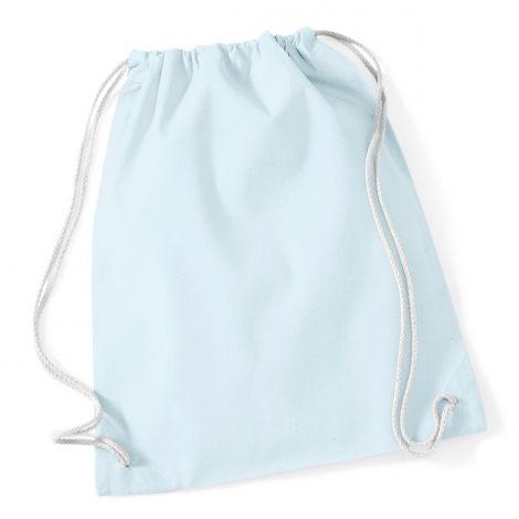 Gymtas katoen lichtblauw