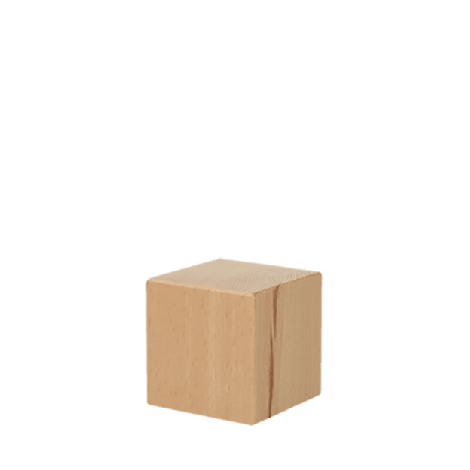 Houten blokken kubus