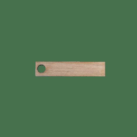 Gepersonaliseerde houten label 1,5x7cm