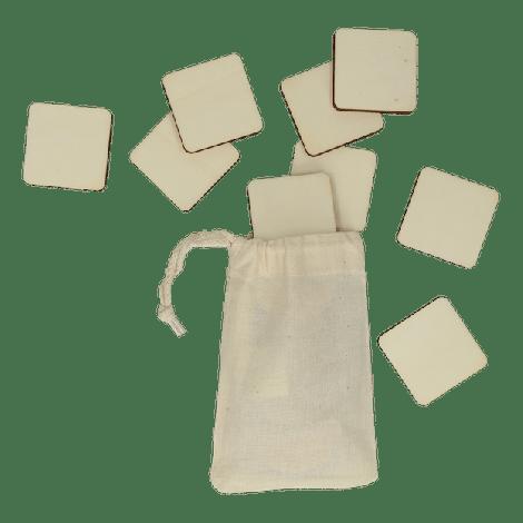 Houten memory blanco vierkant