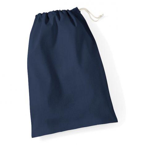 Katoenen zak donkerblauw