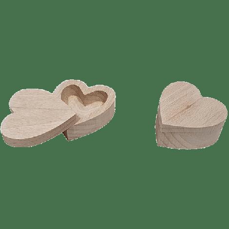 Houten opbergbakje hart