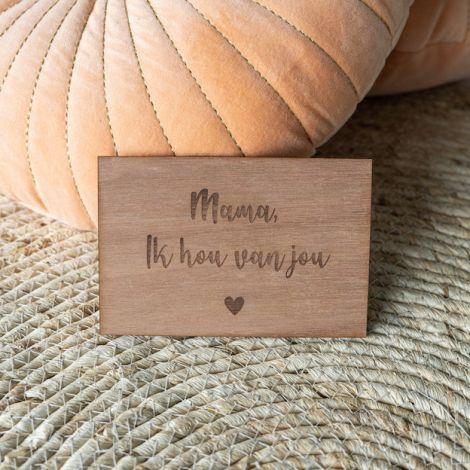 Houten kaart voor mama