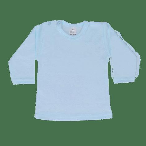 Shirt lange mouw lichtblauw