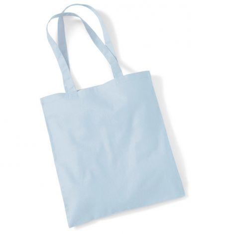 Katoenen tas pastel blauw
